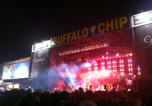 2012 Sturgis Motorcycle Rally at Night at the Buffalo Chip Campground