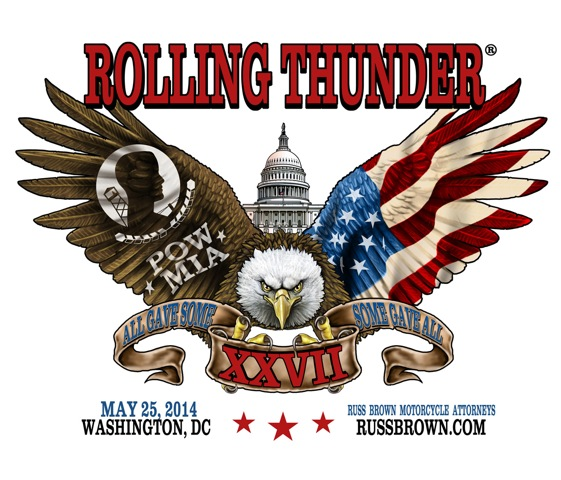 Get your Rolling Thunder Sticker at www.RussBrown.com