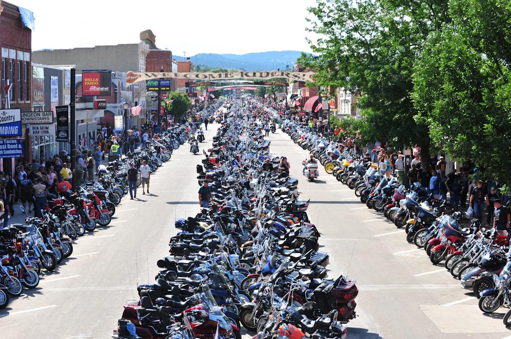 sturgis main street full of motorcycles