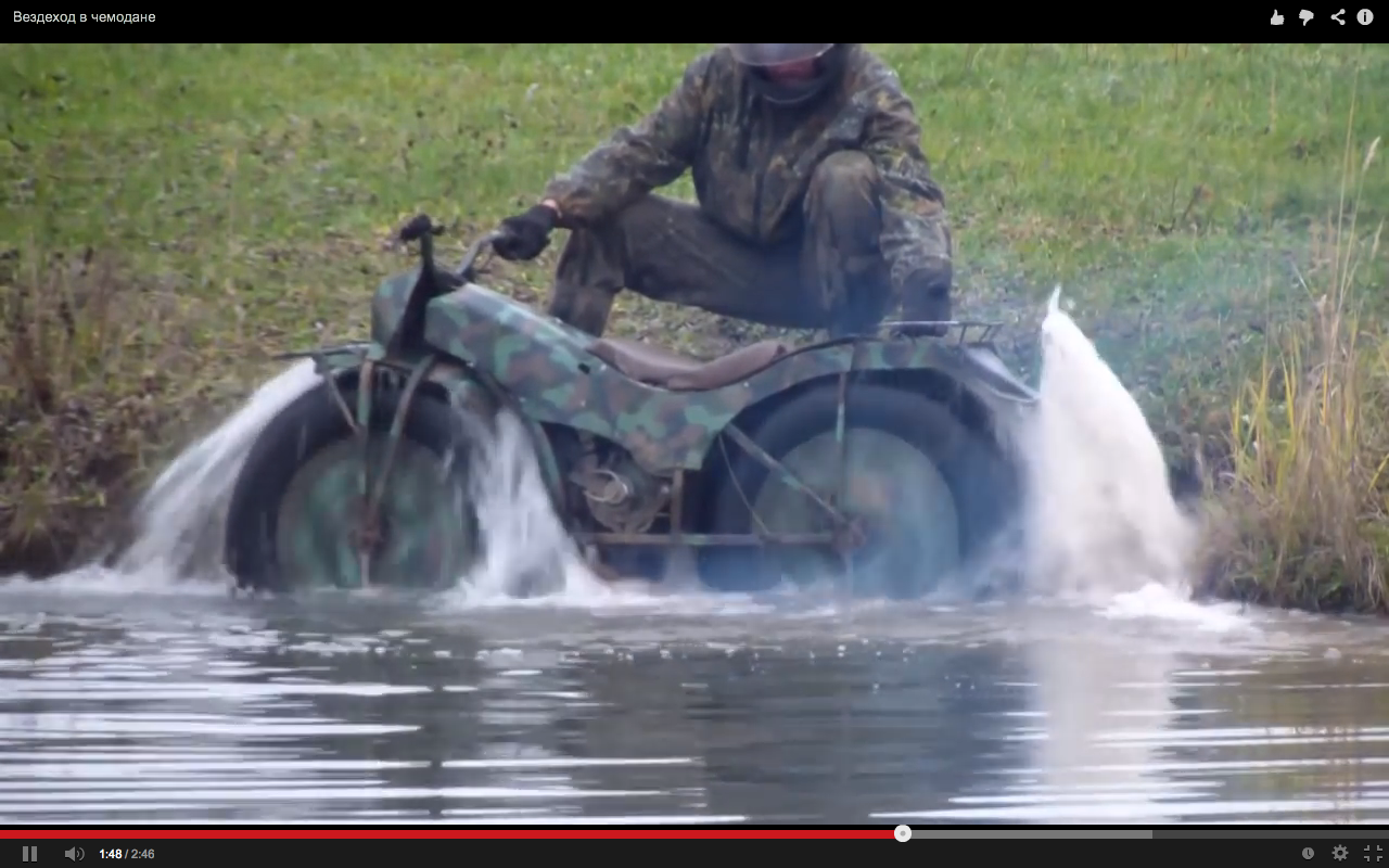 a bike that can climb stairs go in mud water etc
