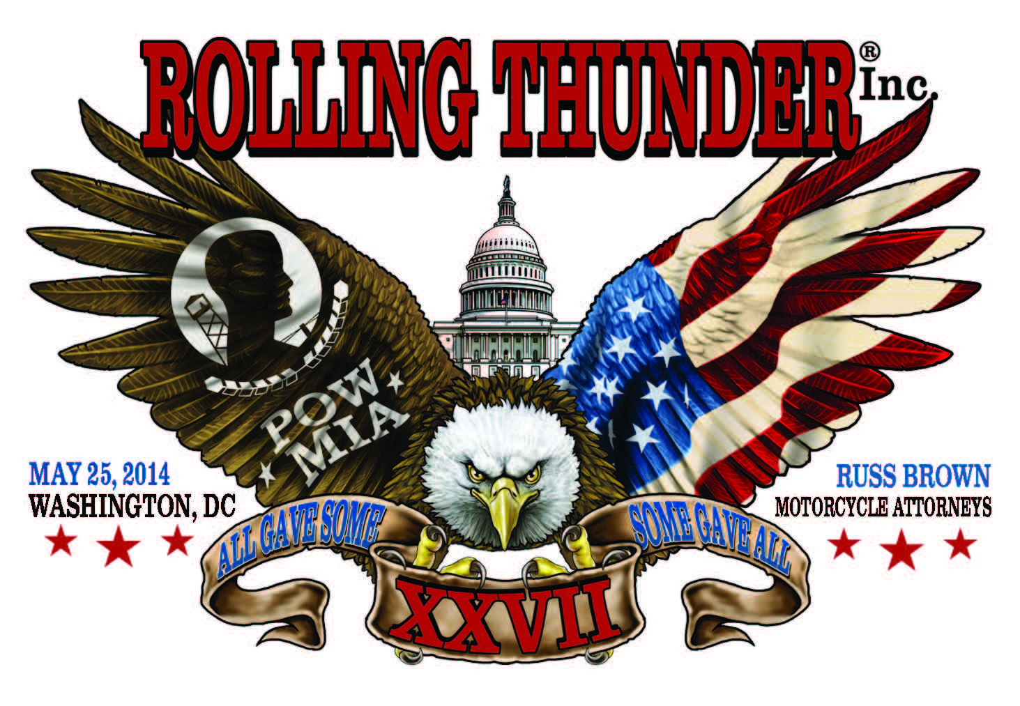 2014 Rolling Thunder Ride For Freedom in DC dkda