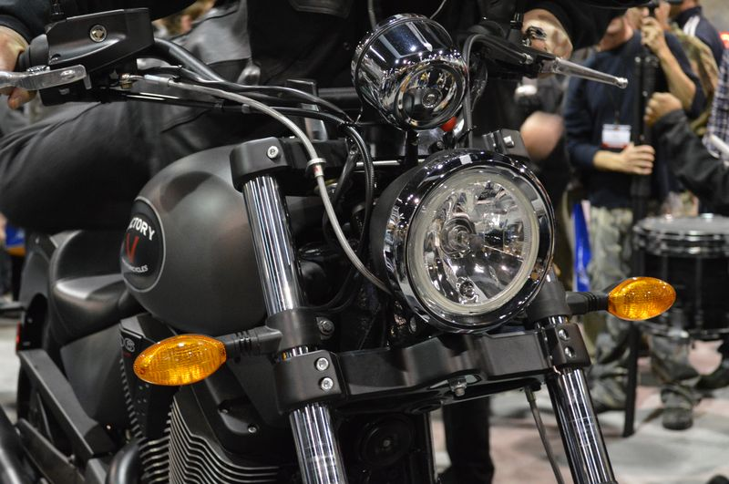 New Victory Gunner - revealed in Chicago Feb 2014. Photos courtesy of International Motorcycle Show.