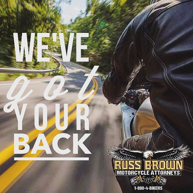 At Russ Brown Motorcycle Attorneys, we've got your back: FREE Breakdown & Legal Assistance Nationwide, 24/7. Call us at 1-800-4-BIKERS • #motorcycles #enginetrouble #roadsideassistance #russbrownrocks