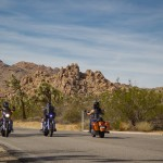(A group of ladies riding through Joshua Tree)