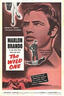 "American bad boy Marlon Brando in the Movie ""the Wild One"""