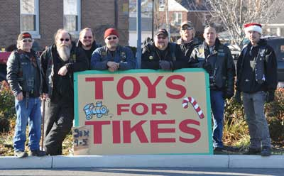 Bikers And The Spirit Of Giving - Photo by CLINTON RANDALL/Advocate Photo