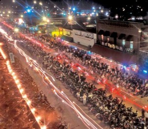 2012 Sturgis Motorcycle Rally at Night