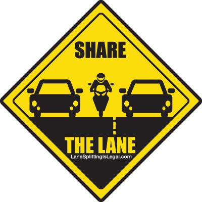 california hwy law motorcycles splitting lanes