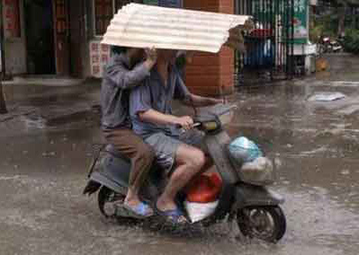 Motorcycle Safety Means Being Perpared In Wet Weather