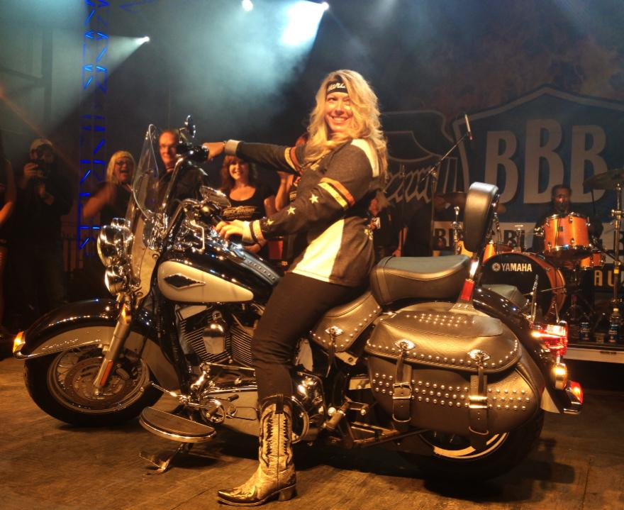 Christy Box our 2013 Harley-Davidson Softail Motorcycle Winner!
