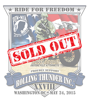2015 Rolling Thunder Sticker SOLD OUT