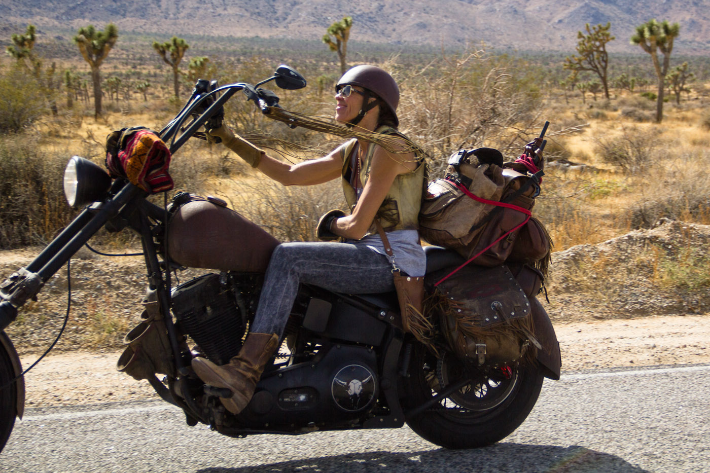 (Infamous Betsy Huelscamp on her Harley)