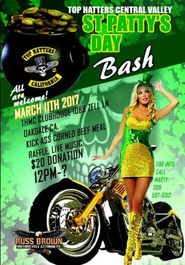 TOP HATTERS CENTRAL VALLEY ST. PATTY'S DAY PARTY